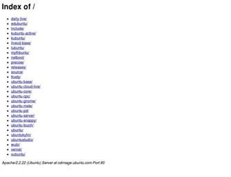 cdimage.ubuntu.com screenshot