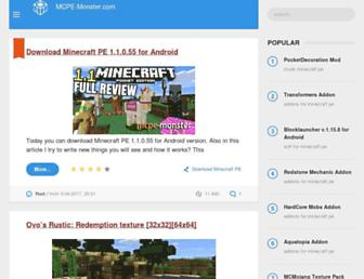 mcpe-monster.com screenshot