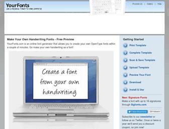 Thumbshot of Yourfonts.com