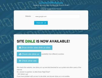 dinle.us.isdownorblocked.com screenshot