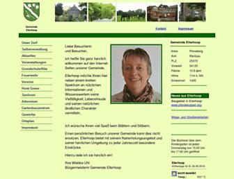 Main page screenshot of ellerhoop.de