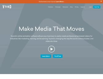 vyond.com screenshot