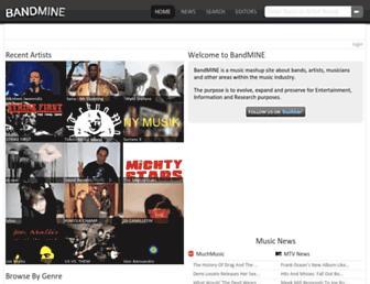 bandmine.com screenshot