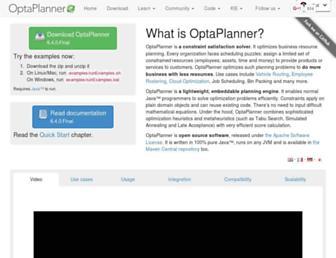 optaplanner.org screenshot