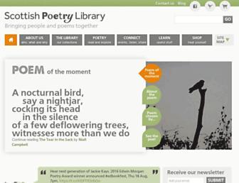 scottishpoetrylibrary.org.uk screenshot