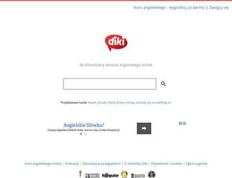 Main page screenshot of diki.pl