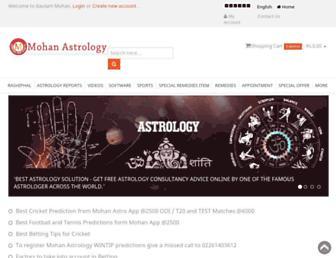 mohanastrology.com screenshot