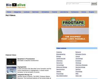 bio-alive.com screenshot