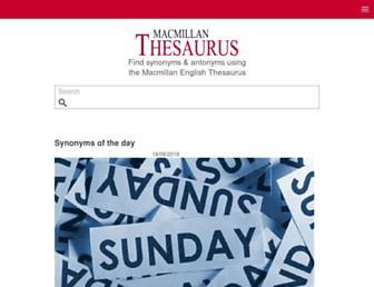 macmillanthesaurus.com screenshot