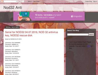 nod32-anti.blogspot.com screenshot