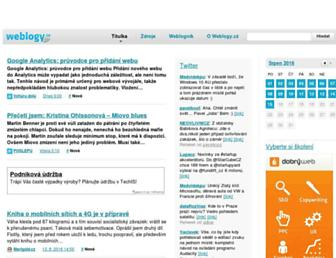Main page screenshot of weblogy.cz
