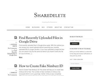 sharedelete.com screenshot