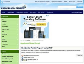 apartment-rental-script.opensourcescripts.com screenshot