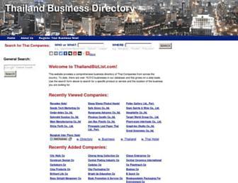 thailandbizlist.com screenshot