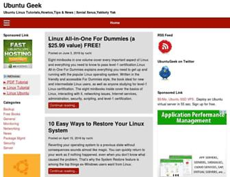 Thumbshot of Ubuntugeek.com
