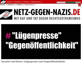Main page screenshot of netz-gegen-nazis.de