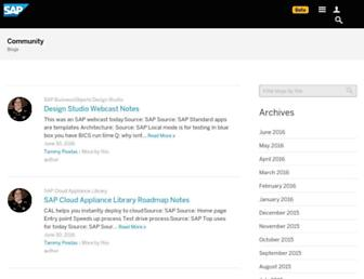 blogs.sap.com screenshot