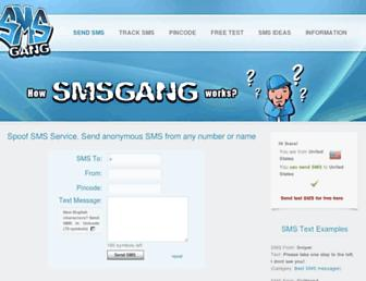 smsgang.com screenshot