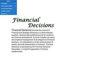 financialdecisionsonline.org screenshot