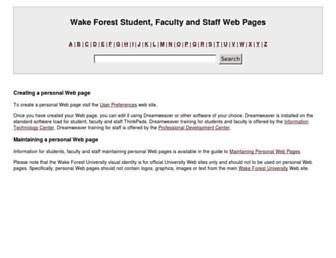 users.wfu.edu screenshot