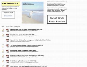 Main page screenshot of easybyte.org