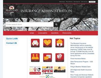 insurance.maryland.gov screenshot