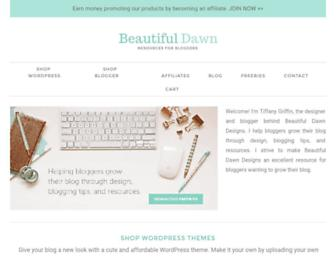 beautifuldawndesigns.net screenshot