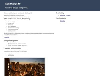 Thumbshot of Webdesign10.com