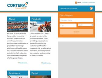 start.cortera.com screenshot