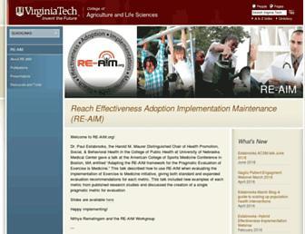 Main page screenshot of re-aim.org