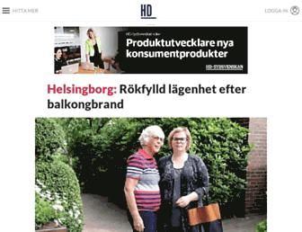 Main page screenshot of hd.se
