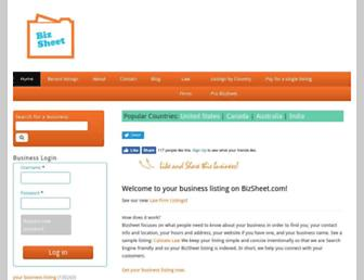 Thumbshot of Bizsheet.com