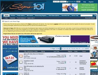 signs101.com screenshot