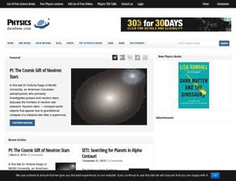 physicsdatabase.com screenshot