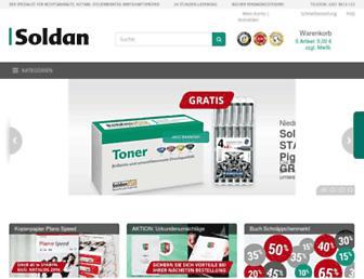 Main page screenshot of soldan.de