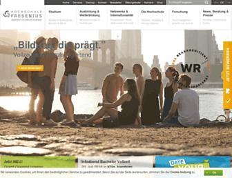 hs-fresenius.de screenshot