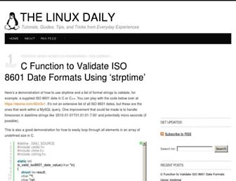 thelinuxdaily.com screenshot