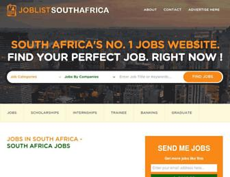 Thumbshot of Joblistsouthafrica.com