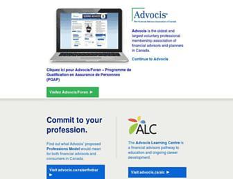 advocis.ca screenshot