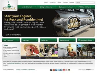 Main page screenshot of kitchener.ca
