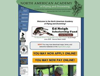Main page screenshot of naapd.org