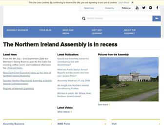 niassembly.gov.uk screenshot