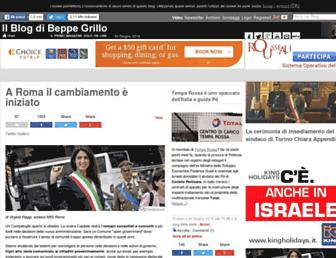 Main page screenshot of beppegrillo.it