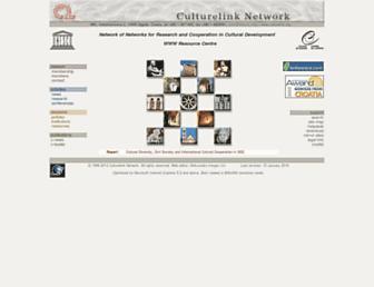Main page screenshot of culturelink.org