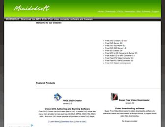 minidvdsoft.com screenshot