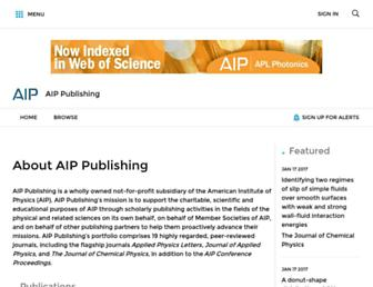 aip.scitation.org screenshot
