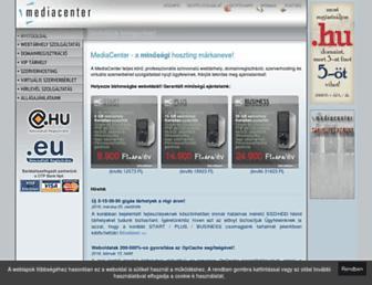 Main page screenshot of mediacenter.hu