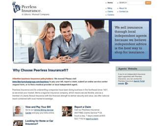 peerless-ins.com screenshot