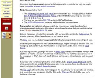 Main page screenshot of alt-usage-english.org