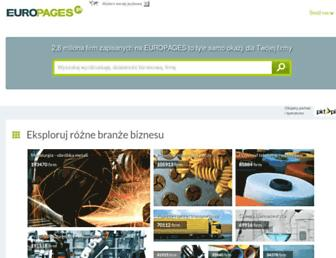 Main page screenshot of europages.pl